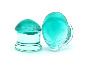 Green Alien Glass Plugs