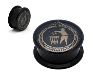 Black Acrylic Cattle Decapitation Goroboros Picture Plugs