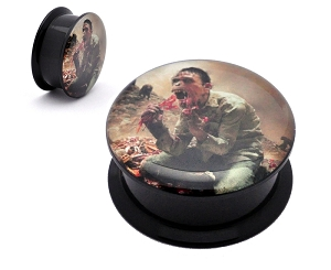 Black Acrylic Cattle Decapitation Monolith of Inhumanity Picture Plugs