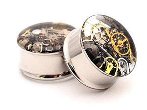 Embedded Steampunk Watch Parts Plugs