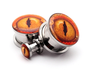 316L Stainless Steel Eye Style 12 Picture Plugs