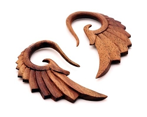 Sono Wood Angel Wing Ear Hooks