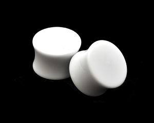 White Acrylic Double Flare Plugs