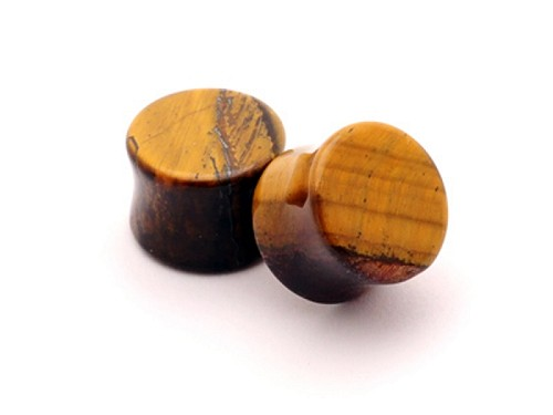 Tiger Eye Double Flare Plugs (Sold in pairs)