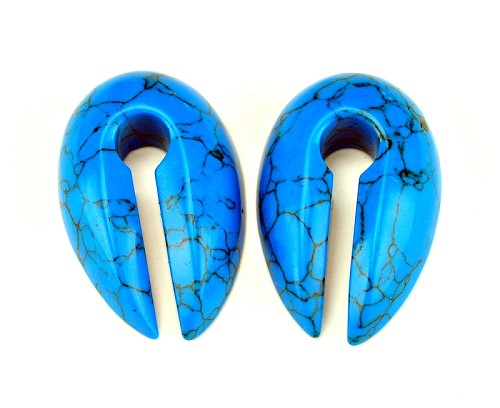 Small Stone Keyhole Ear Weights