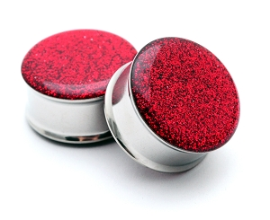 Embedded Cherry Glitter Plugs