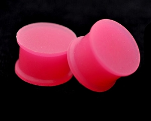 Pink Glow in the Dark Silicone Plugs