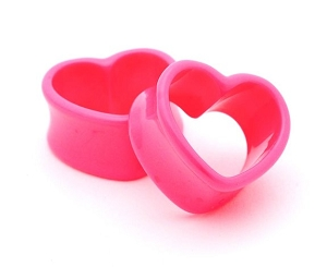 Pink Acrylic Heart Tunnels