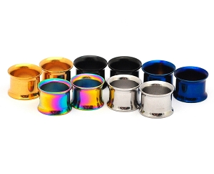 316L Stainless Anodized Steel Double Flare Tunnels