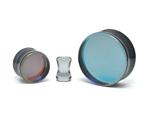 Iridescent Smokey Glass Double Flare Plugs