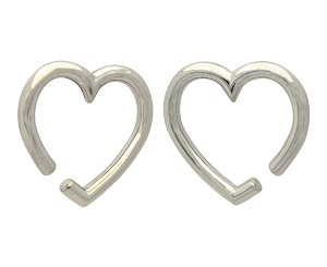 316L Surgical Stainless Steel Heart Hangers