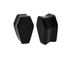 Onyx Coffin Shaped Plugs