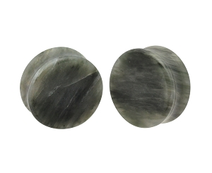 Green Line Jasper Double Flare Plugs