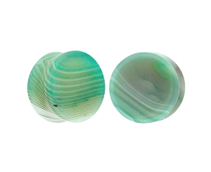 Green Line Agate Double Flare Plugs