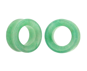 Green Aventurine Stone Concave Tunnels