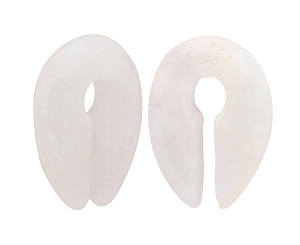Cloudy Quartz Stone Keyhole Ear Weights