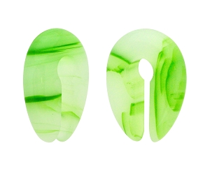 Green Line Agate Stone Keyhole Ear Weights