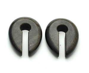 Golden Obsidian Stone Keyhole Ear Weights