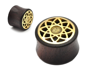 Sono Wood With Brass Lotus Inlay