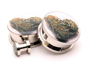 316L Stainless Steel Love Bud Picture Plugs