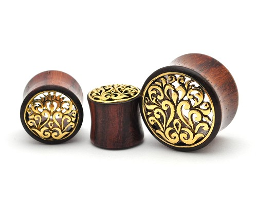Sono Wood With Brass Filigree Inlay