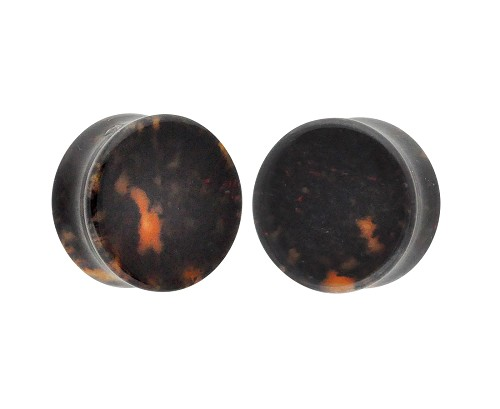 Chicken Blood Stone Double Flare Plugs