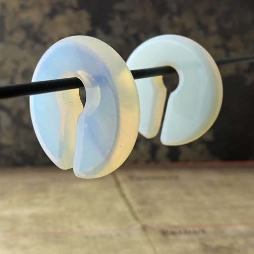 Opalite Round/Flat Keyhole Ear Weights