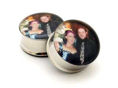 316L Stainless Steel CUSTOM Picture Plugs